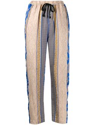 Forte Forte Paneled Pattern Cropped Trousers 60