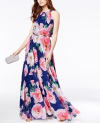 Inc International Concepts Petite Floral Print Halter Maxi Dress Only At Macy's Pink Floral