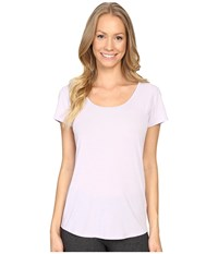 Lucy S S Workout Tee Sheer Lilac Women's Workout Pink