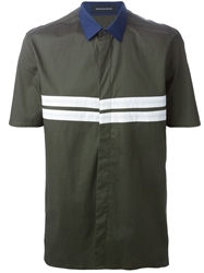 Kris Van Assche Striped Short Sleeved Shirt