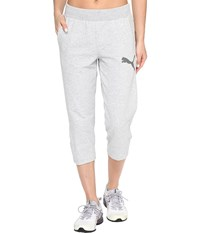 Puma Elevated 3 4 Sweatpants Light Gray Heather Women's Workout