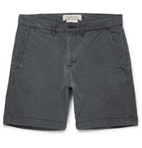 Remi Relief Slim Fit Cotton Blend Twill Shorts Charcoal