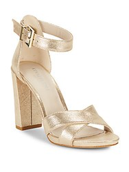 Kenneth Cole Diana Leather Open Toe Sandals Soft Gold