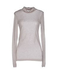 Antik Batik Topwear T Shirts Women Light Grey