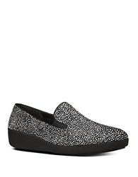 Fitflop Pop Skate Tm Wedge Leather Loafers Black