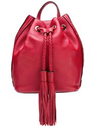 Rebecca Minkoff Tassel Detail Backpack Red