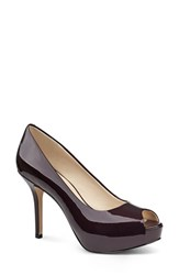 Women's Nine West 'Qt Pie' Platform Peep Toe Pump 4 1 4' Heel