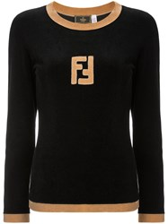 Fendi Vintage Long Sleeve Jumper Black