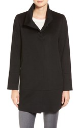 Fleurette Women's Loro Piana Wool Car Coat Black