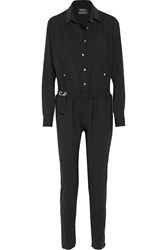 Anthony Vaccarello Stretch Wool Jumpsuit