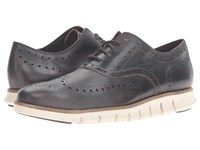 Cole Haan Zerogrand Wing Oxford Java Leather Ivory Men's Lace Up Casual Shoes Black