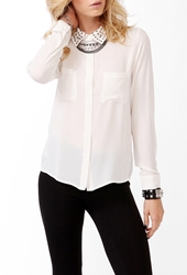 Forever 21 Multi Studded Collar Shirt