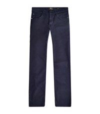 7 For All Mankind Slimmy Luxe Performance Skinny Jeans Male Navy