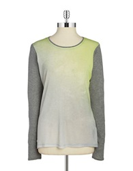 T Tahari Long Sleeve Shirt Grey Multi