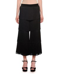 Missoni Allover Fringe Cropped Pants Black
