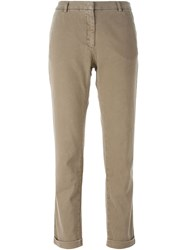 Monocrom Slim Fit Trousers Nude And Neutrals