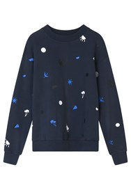 Etre Cecile Icon Yardage Boyfriend Sweatshirt Blue