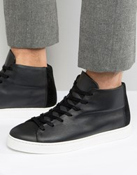 Selected Homme David Hi Top Trainers Black