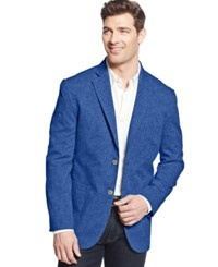 Tasso Elba Men's Linen Blend Sport Coat Only At Macy's Indigo