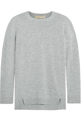 Michael Michael Kors Mercerized Wool And Cashmere Blend Sweater Gray