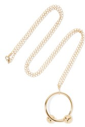 J.W.Anderson Gold Plated Necklace One Size