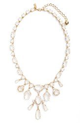 Kate Spade Women's New York Crystal Statement Necklace Clear Gold