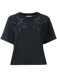 See By Chloe Eyelet Detail Top Black