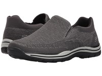 Skechers Relaxed Fit Expected Gomel Gray Knitted Mesh Men's Shoes