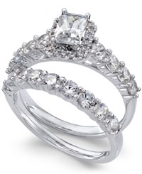 Macy's Diamond Bridal Set 2 Ct. T.W. In 14K White Gold