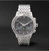 Junghans Meister Driver Chronoscope 40Mm Stainless Steel Watch Ref. No. 027 3686.44 Silver