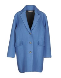 Stefanel Coats And Jackets Full Length Jackets Women Pastel Blue