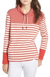 Barbour Women's Rief Stripe Cotton Funnel Neck Sweater