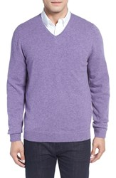 John W. Nordstromr Men's Big And Tall Nordstrom Cashmere V Neck Sweater Purple Quail