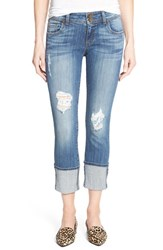 Kut From The Kloth Women's 'Cameron' Distressed Stretch Straight Leg Jeans Cheer