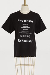 Proenza Schouler Printed T Shirt 21230 Black White Care Label
