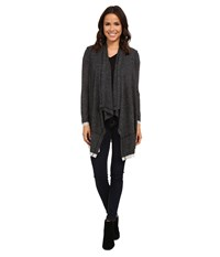 Splendid Cozy Melange Cardigan Heather Charcoal Women's Sweater Gray