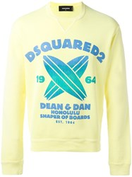 Dsquared2 Shaper Of Boards Sweatshirt Yellow Orange