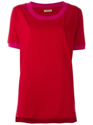 Romeo Gigli Vintage Scoop Neck T Shirt Red