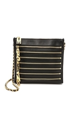 Moschino Zipper Clutch Black