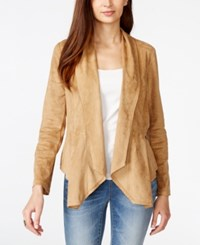 Vakko For Inc International Concepts Draped Faux Suede Blazer Only At Macy's Vakko Camel