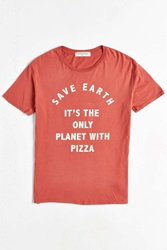 Project Social T Save Earth Pizza Tee Red