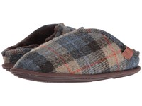 Bedroom Athletics William Harris Tweed Natural Navy Check Men's Slippers