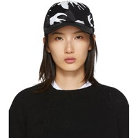 Mcq By Alexander Mcqueen Black Swallow Cap