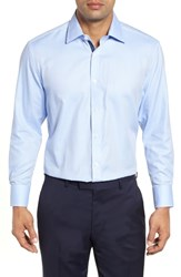 English Laundry Regular Fit Solid Dress Shirt Blue