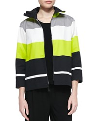 Caroline Rose Limelight Striped Zip Jacket Women's