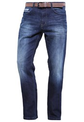 Tom Tailor Josh Straight Leg Jeans Stone Blue Denim Dark Blue Denim