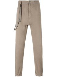 Helmut Lang Loops Strap Slim Fit Trousers Nude Neutrals