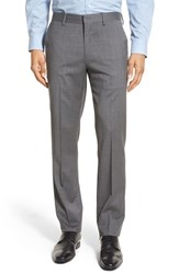 Men's Bonobos Flat Front Solid Stretch Wool Trousers