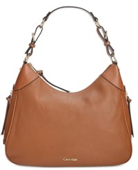 Calvin Klein Classic Pebbled Leather Hobo Luggage