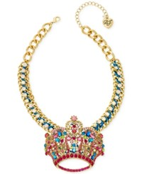 Betsey Johnson Xox Trolls Crown Pendant Only At Macy's Gold